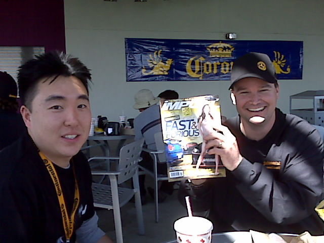 Travis Roffler of Continental Tire (right) Carter Jung of Import Tuner (left)